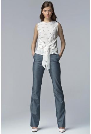Jeansowe Eleganckie Spodnie Damskie Bootcut