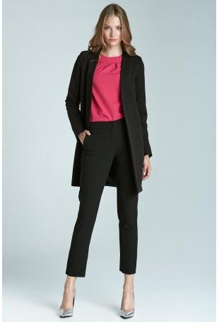 Czarne Klasyczne Wąskie Spodnie Cygaretki