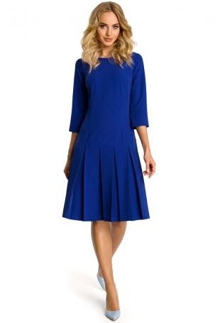 Chabrowa Sukienka z Obniżonym Stanem