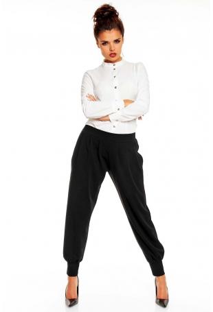 Czarne Eleganckie Spodnie Typu Pumpy