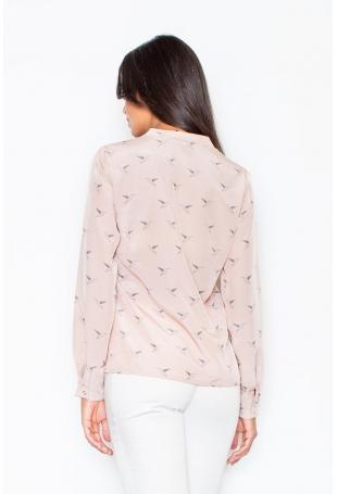 Różowa Koszula na Stójce w Kolibry