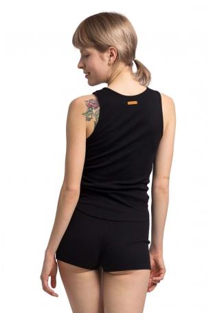 Bawełniana Koszulka Typu Top - Czarna