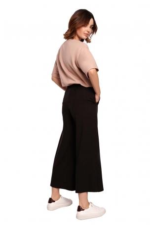 Spodnie Kuloty na Gumie - Czarne