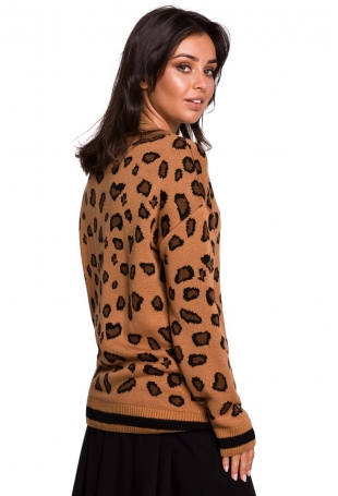 Oversizowy Sweter w Lamparcie Cętki