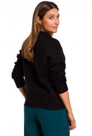 Czarny Klasyczny Ciepły Sweter