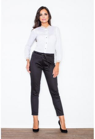 Biała Stylowa Koszula z Niską Stójką