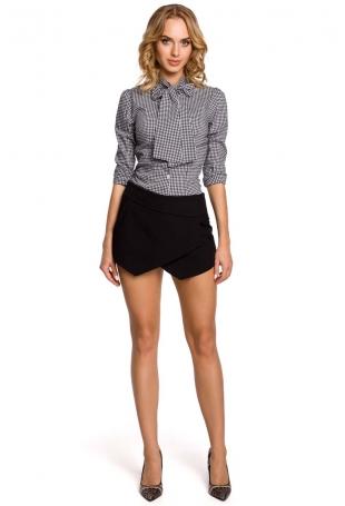 Krótkie Szorty Imitujące Spódnice - Czarny