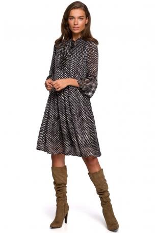 Sukienka z Falbankami w Kropki - Model 1