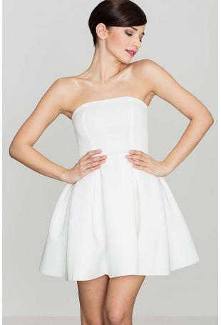 Ecru Wieczorowa sukienka Gorsetowa