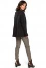 Antracytowy Oversizowy Sweter z Niewielką Stójką
