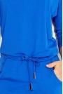 Chabrowa Sukienka Sportowa Ściągana w Pasie