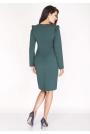 Zielona Sukienka Ołówkowa z Falbankami na Ramionach