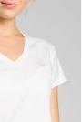 Bawełniana Koszulka do Spania z Krótkim Rękawem - Ecru