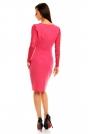 Różowa Koronkowa Sukienka z Założeniem Kopertowym