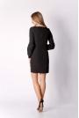 Czarna Klasyczna Mini Sukienka Dzienno-wizytowa