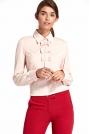 Różowa Nietuzinkowa Koszulowa Bluzka z Kokardkami
