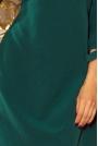 Zielona Sukienka z Kokardkami i Paskiem
