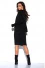 Czarny Komplet Oversizowy Półgolf +Ołówkowa Midi Spódnica