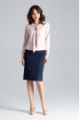 Różowa Elegancka Bluzka z Wiązaniem przy Dekolcie