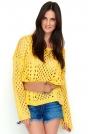 Morelowy Ażurowy Sweter Oversize