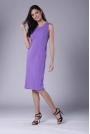 Fioletowa Szykowna Sukienka Ołówkowa bez Rękawów