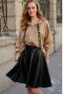 Bluza z Kapturem w Stylu Glamour -Bezowa