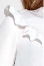 Ecru Koszulowa Bluzka z Falbankami