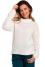 Ecru Klasyczny Ciepły Sweter