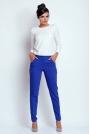 Kobaltowe Eleganckie Spodnie Cygaretki
