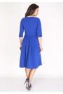 Kobaltowa Sukienka z Rozkloszowanym Dołem