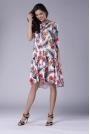Subtelna Sukienka z Obniżoną Talią Wiązana przy Dekolcie