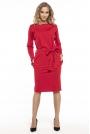 Czerwona Kimonowa Sukienka z Szarfą w Pasie