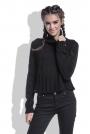 Czarny Sweter Krótki z Wysokim Golfem