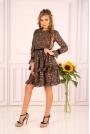 Ultrakobieca Sukienka Ozdobiona Kwiatowymi Bukietami