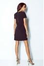 Czarna Sukienka Trapezowa Mini z Dekoltem V