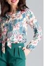 Elegancka Bluzka z Wiązaniem przy Dekolcie - Wzór 104