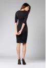 Czarna Klasyczna Ołówkowa Sukienka z Rękawem za Łokcie