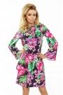 Sukienka z Rozkloszowanymi Rękawami - Kwiaty