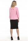 Elegancka Rożowa Bluzka z Kołnierzem Jackie Kennedy