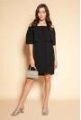 Krótka Sukienka z Hiszpańskim Dekoltem - Czarna