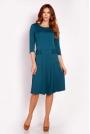 Zielona Sukienka Midi z Kieszeniami