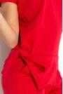 Czerwony Kombinezon Elegancki Wieczorowy