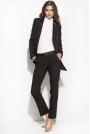 Eleganckie Czarne Spodnie z Kantem