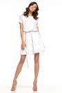 Biała Rozkloszowana Sukienka z Falbankami
