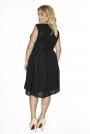 Czarna Sukienka z Kopertowym Dekoltem PLUS SIZE
