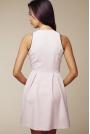 Sukienka z Długim Suwakiem i Kontrastowymi Lamówkami