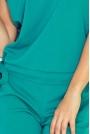 Zielony Kombinezon Elegancki Wieczorowy