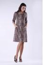 Luźna Sukienka przed Kolano z Kieszeniami