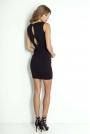 Czarna Ołówkowa Mini Sukienka z Kokardkami na Plecach