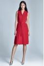Czerwona Sukienka Koszulowa Szmizjerka z Kieszeniami bez Rękawów